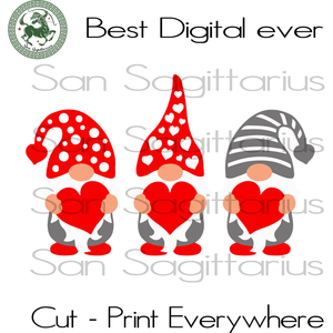 Gnome Valentines Day Svg, Valentines Day Cut File, Gnome Valentine Silhouette, Lover Gift Svg, Cute Gnome SVG Files For Cricut Silhouette Instant Download | San Sagittarius