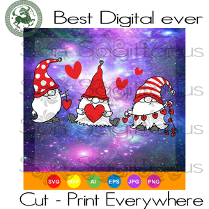 Gnome Valentine Svg, Gnome Cut File, Valentine's Day Gifts Ideas SVG Files For Cricut Silhouette Instant Download | San Sagittarius