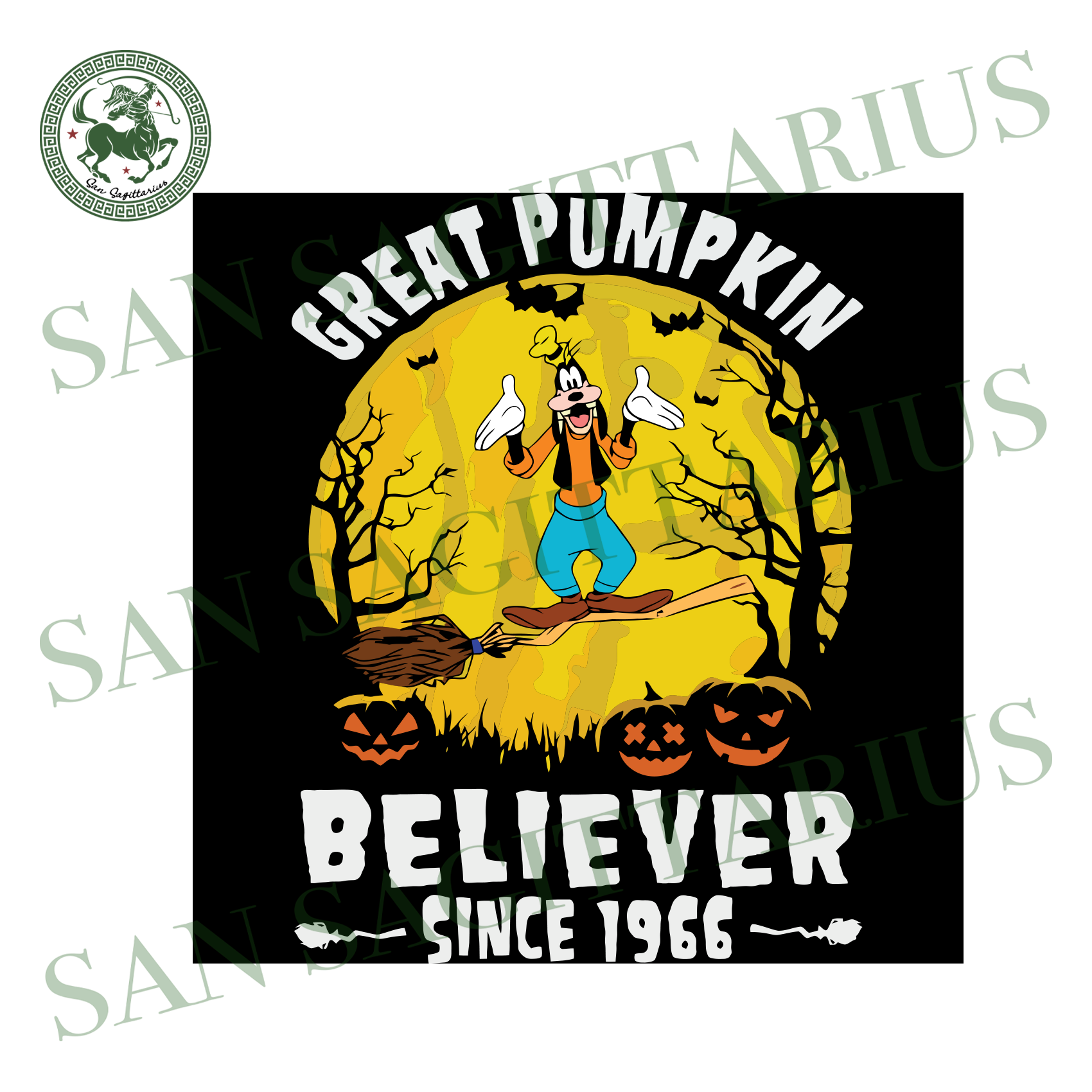 Goofy Great Pumpkin Believer Since 1966, Halloween Svg, Happy Halloween, Halloween Shirt, Nightmare Svg, Pumpkin Svg, Disney Svg, Goofy Svg, Goofy Shirt, Goofy Gift, Disney Character Svg