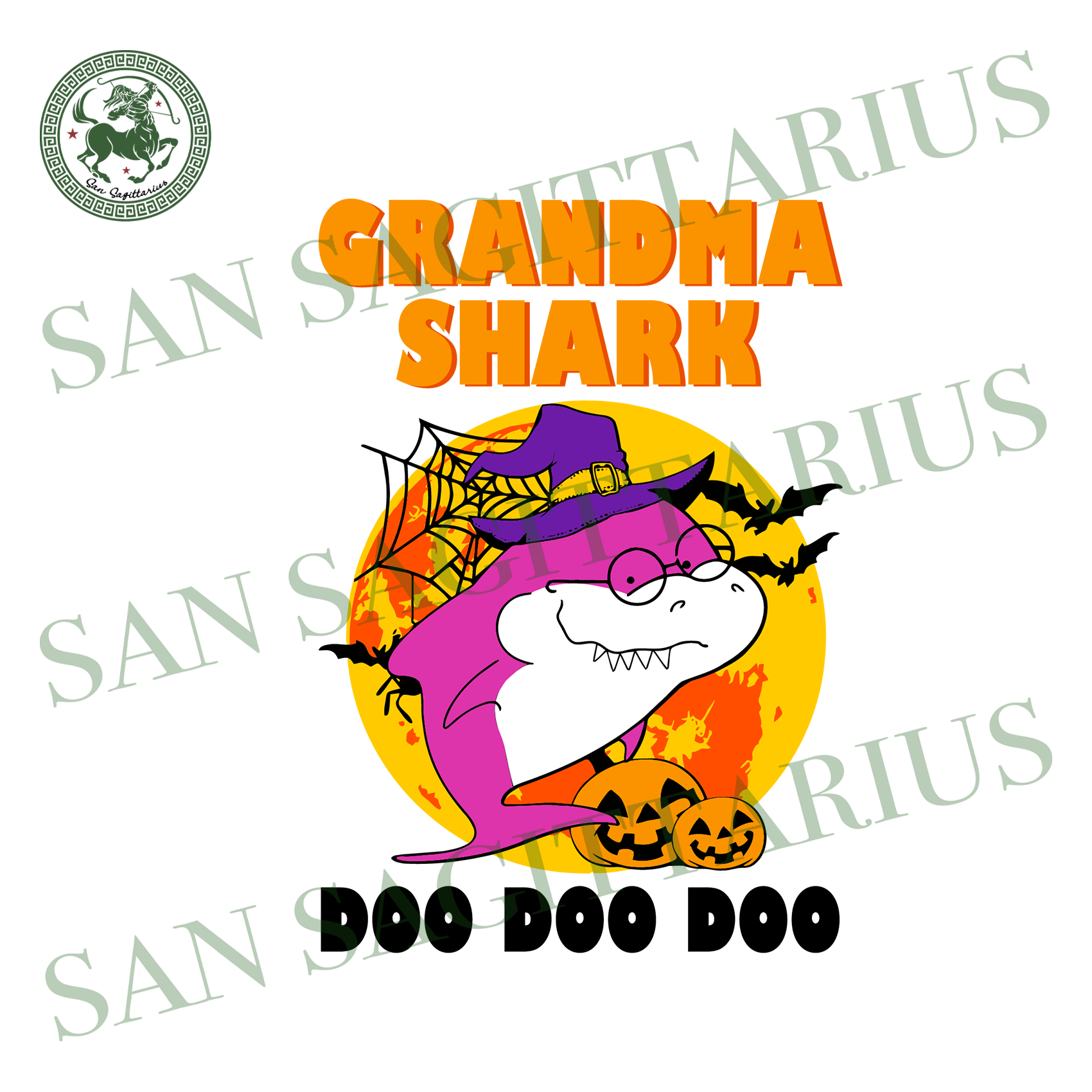 Grandma Shark Halloween SVG, Shark SVG, Shark Family SVG, Shark Birthday svg, Grandma svg, Shark Party, Doo Doo Doo svg, Halloween Gift,Shark Halloween Svg,Halloween 2020 Shirt