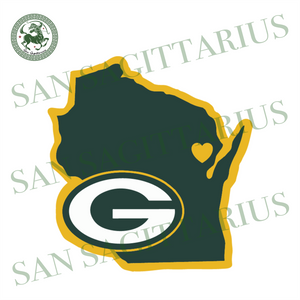 Green Bay Packers Home State Svg, Packers Svg, Packers Logo Design, Packers State Vector, Packers Football, Packers Fans Shirt, Packers Lover, Football Svg, Nfl Logo Design, Sport Event Svg,