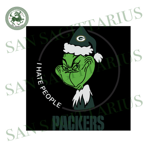 Green Bay Packers Logo With Grinch, Sport Svg, NFL Football Svg, NFL Svg, NFL Sport, Green Bay Packers Svg, Green Bay Packers, Green Bay Packers NFL Lover, Packers NFL Svg, Football Svg