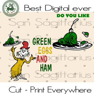 Green Egg and Ham Dr Seuss, Dr. Seuss svg, Cat In Hat, Lorax,Thing one thing two, Thing 1 Thing 2 SVG Files For Silhouette Cricut Instant Download | San Sagittarius