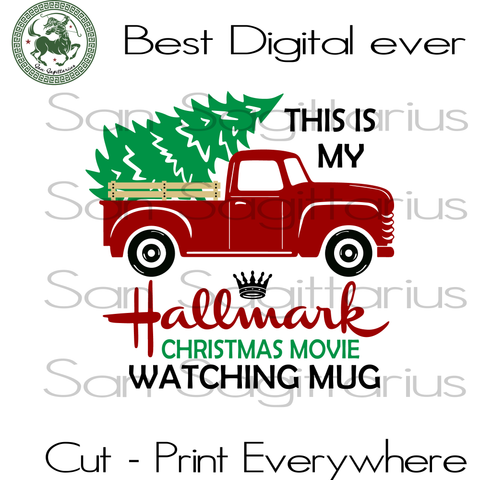 Hallmark Christmas Watching Movie mug, Truck Tree Retro Vintage Winter Holiday, Hallmark Christmas, Hallmark, Hallmark Christmas Shirt svg, Christmas Truck svg, Christmas Truck Vintage, Merry