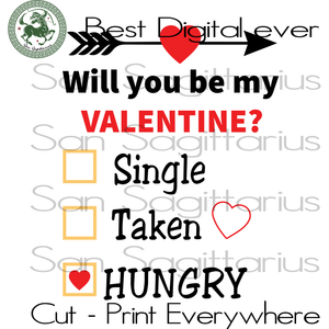 Funny Valentine's Day Saying, Valentine's Day Bestie Gift, Valentine Cut File, Girlfriend Gift SVG Files For Cricut Silhouette Instant Download | San Sagittarius