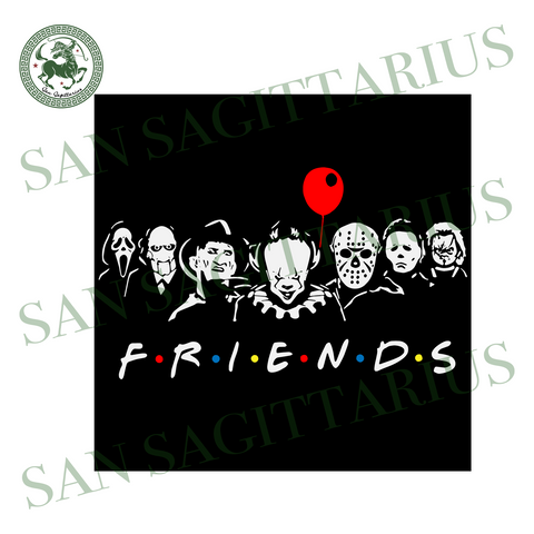 Halloween Horror Movie Killers svg, Scary Friends SVG, Friends Halloween SVG, Halloween SVG, Funny halloween svg, Horror Squad, Halloween Horror Friends svg,friends gift svg