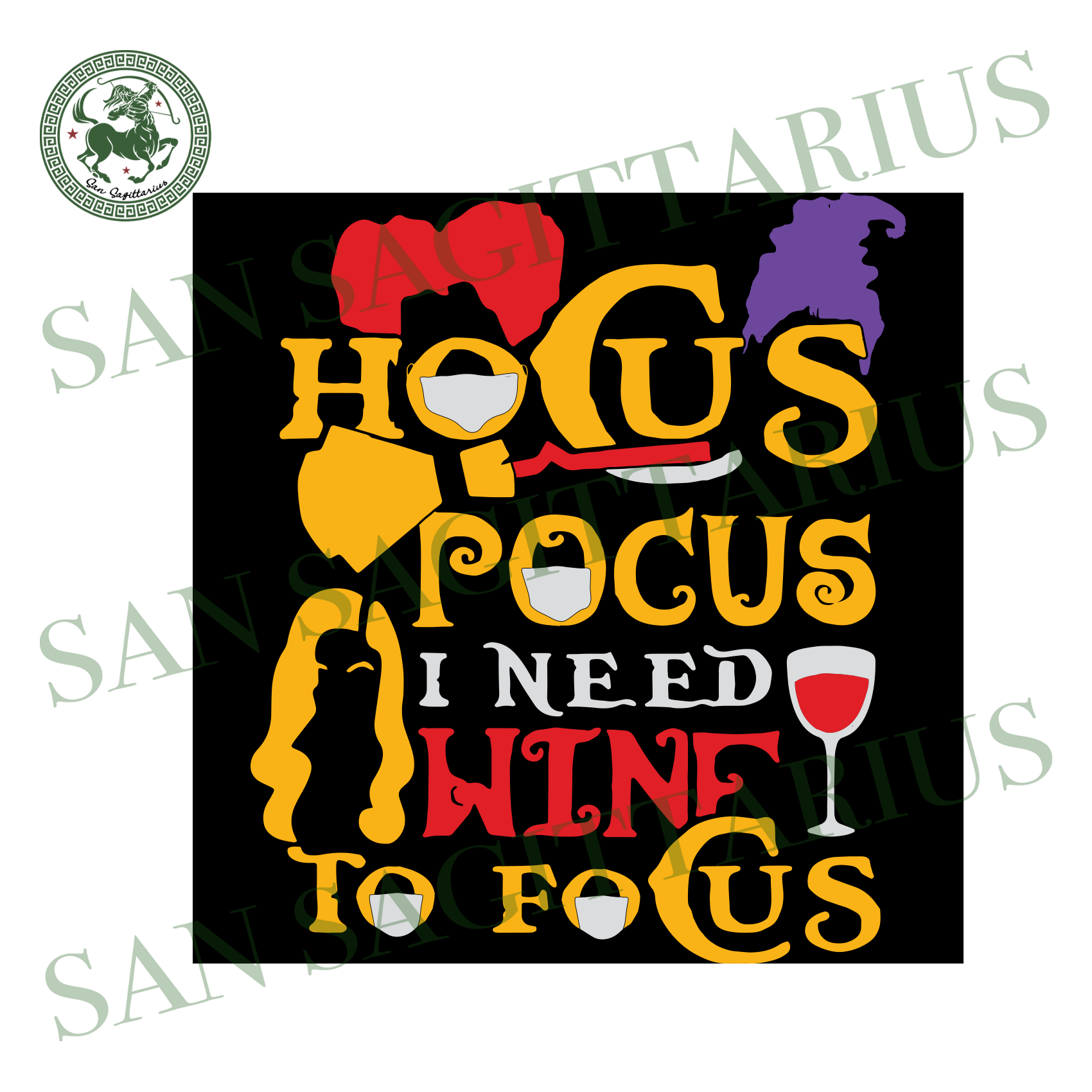 Hocus Pocus I Need Wine To Focus, Halloween Svg, Halloween Design, Happy Halloween, Halloween Gift, Halloween Shirt, Broom Svg, Halloween Brooms Svg, Brooms Shirt, Wine Svg, Witch Svg