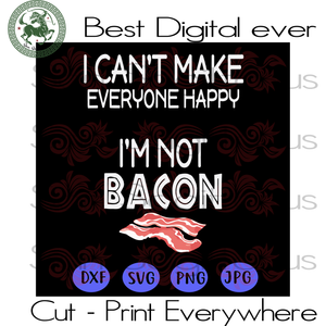 I'm Not Bacon Funny Saying, Bacon Cutting File, Breakfast, Hand Lettered SVG File, Printable SVG Files For Cricut Silhouette Instant Download | San Sagittarius