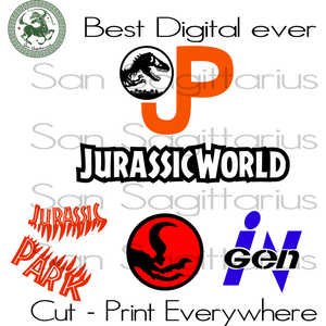 Jurassic Park Movie Clipart Bundles Best Gifts For Kids SVG Files For Cricut Silhouette Instant Download | San Sagittarius