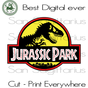 Jurassic Park Movie Lover Best Gift For Kids SVG Files For Cricut Silhouette Instant Download | San Sagittarius
