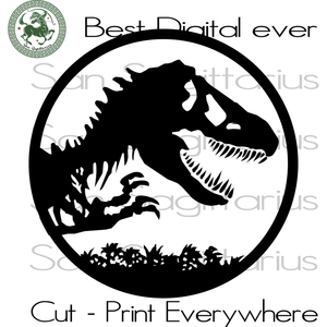 Jurassic Park Clipart Best Gifts For Kids SVG Files For Cricut Silhouette Instant Download | San Sagittarius