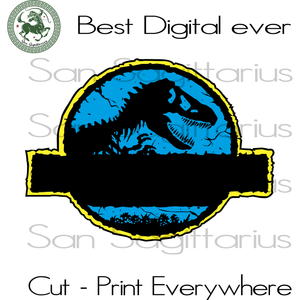 Jurassic Park Movie Personalized Name Birthday Best Gifts For Movie Lovers SVG Files For Cricut Silhouette Instant Download | San Sagittarius