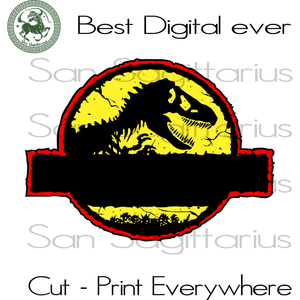 Jurassic Park Movie Personalized Name T-shirt Birthday Best Gifts For Movie Lovers SVG Files For Cricut Silhouette Instant Download | San Sagittarius