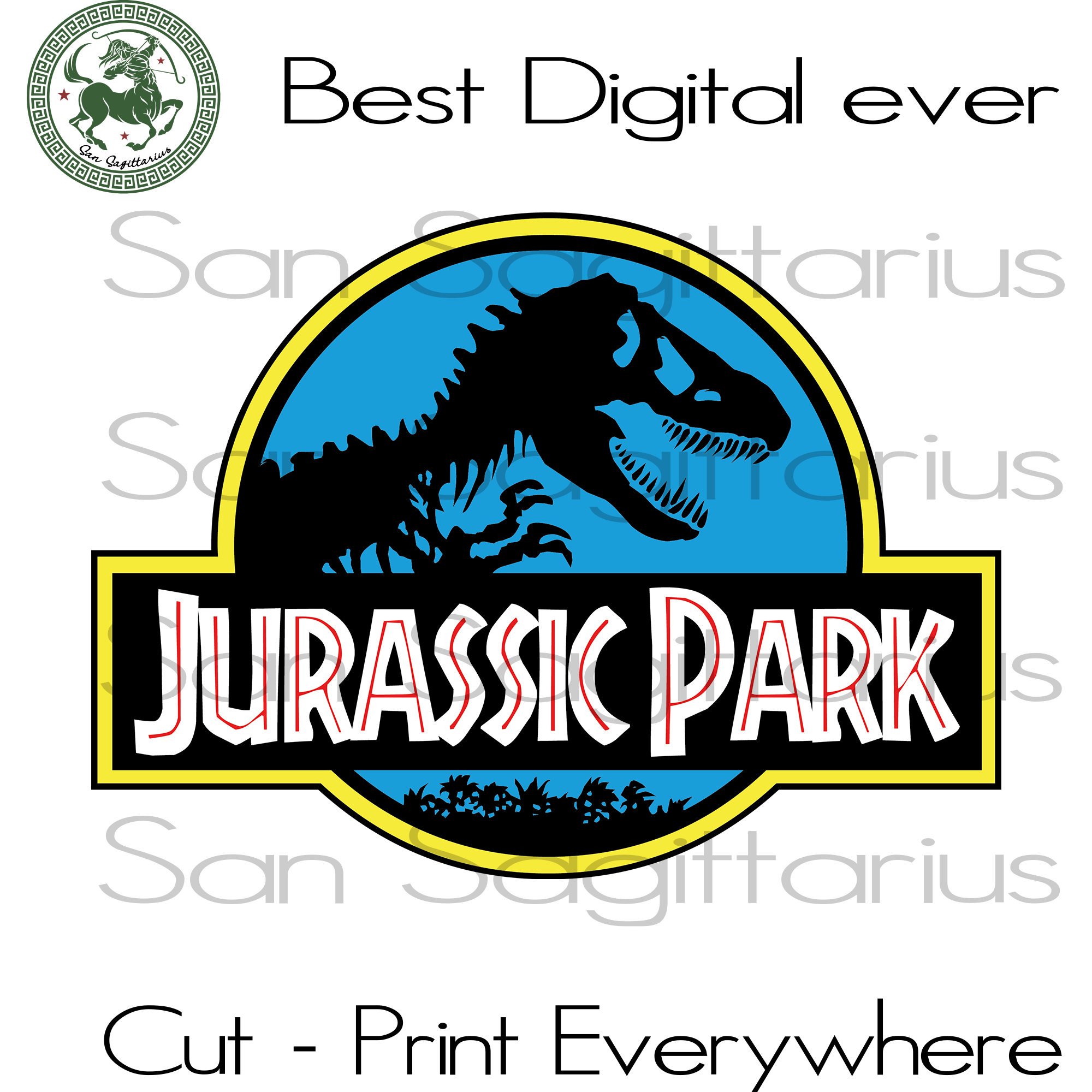 Jurassic Park Movie Clipart Best Gift For Kids SVG Files For Cricut Silhouette Instant Download | San Sagittarius