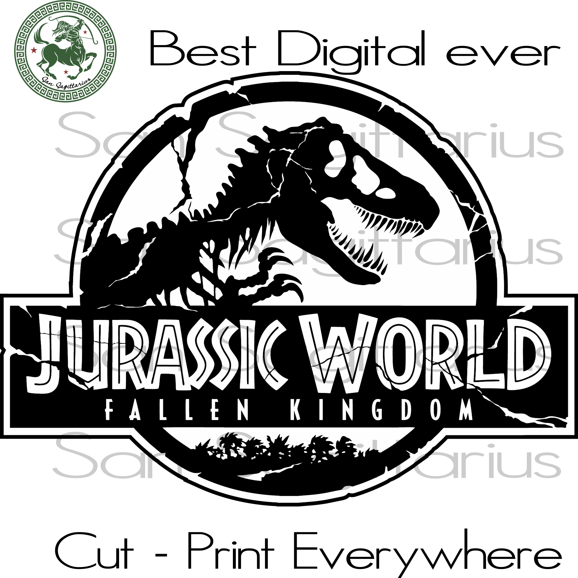 Jurassic World Fallen Kingdom Best Gifts For Kids SVG Files For Cricut Silhouette Instant Download | San Sagittarius