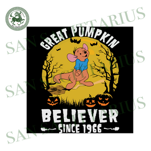 Kangapooh Great Pumpkin Believer Since 1966, Halloween Svg, Happy Halloween, Halloween Gift, Halloween Day, Pumpkin Svg , Pooh Bear Svg, Cute Pooh, Kangaroo Svg, Cartoon Svg
