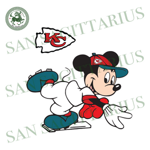Kansas City Chiefs Logo And Mickey, Sport Svg, NFL Football Svg, NFL Svg, NFL Sport, Kansas City Chiefs Svg, Kansas City Chiefs Logo, Kansas City Chiefs NFL Lover, Kansas City Chiefs NFL Svg