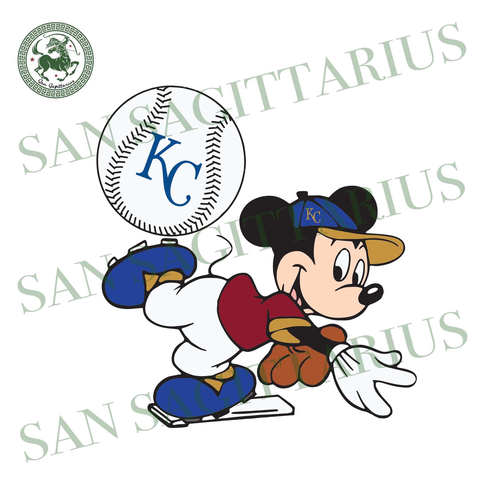 Kansas City Royals Logo With Mickey, Sport Svg, MLB Baseball Svg, MLB Svg, MLB Sport, Kansas City Royals Svg, Kansas City Royals Baseball, Mickey Svg, Mickey Sport, Kansas City Fan, Kansas Ci