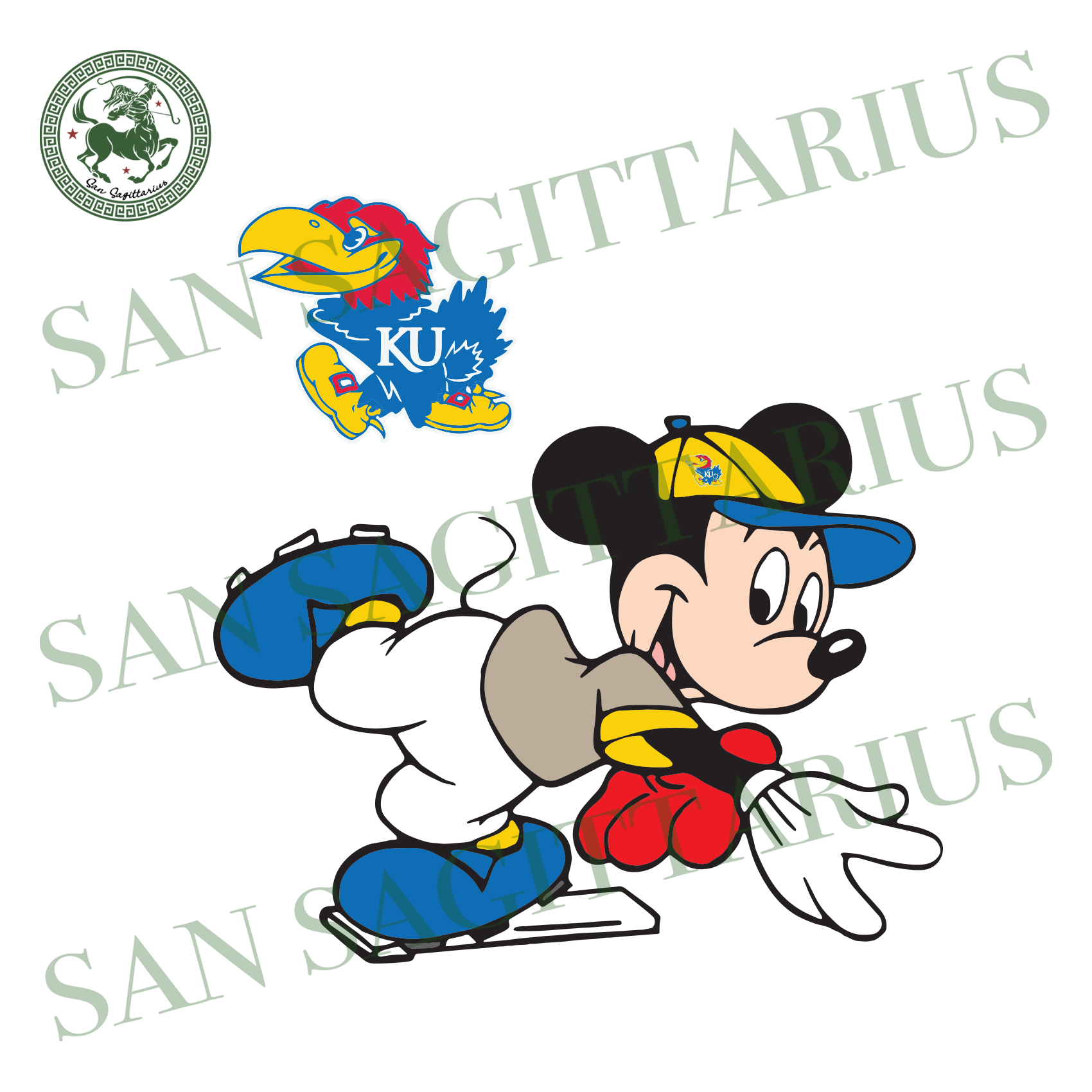 Kansas Jayhawks And Mickey, Sport Svg, Kansas Jayhawks Svg, NCAA Sport Svg, NCAA Svg, Mickey Svg, Football Svg, Kansas Jayhawks Logo, Kansas Jayhawks Shirt, Kansas Jayhawks Lover, Mickey Love