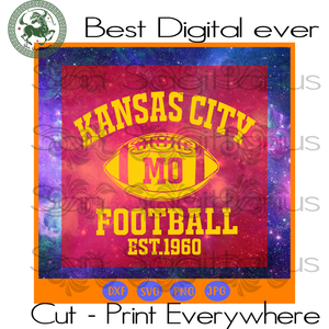 Kansas City Chiefs NFL Football, NFL Chiefs Logo SVG Files For Cricut Silhouette Instant Download | San Sagittarius