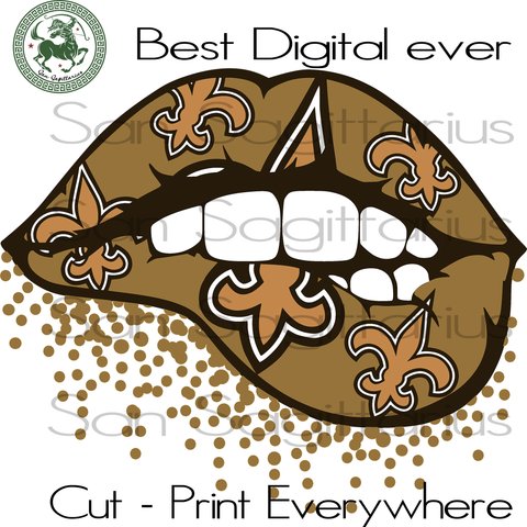 New Orleans Saints SEXY LIPS Svg, New Orleans Saints Logo Svg, New Orleans Saints Football, New Orleans Saints Shirt, Football Mom, Football Lover Gift, Nfl Saints Svg, Saints Football Svg Fi