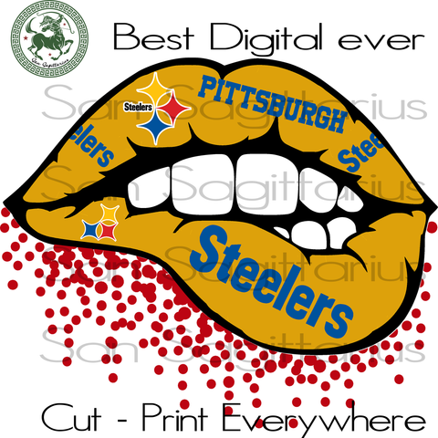 Pittsburgh Steelers Svg, Steelers sexy lips svg, Pittsburgh Steelers Football, Pittsburgh Steelers Shirt, Football Mom, Bundle Nfl Team SVG Files For Cricut Silhouette Instant Download | San