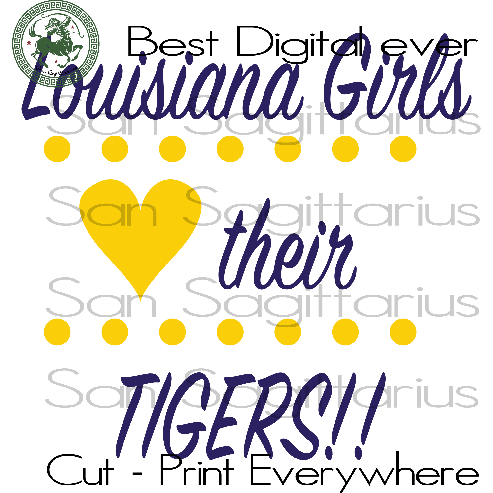 Louisiana Girls their Tiger SVG Files For Cricut Silhouette Instant Download | San Sagittarius