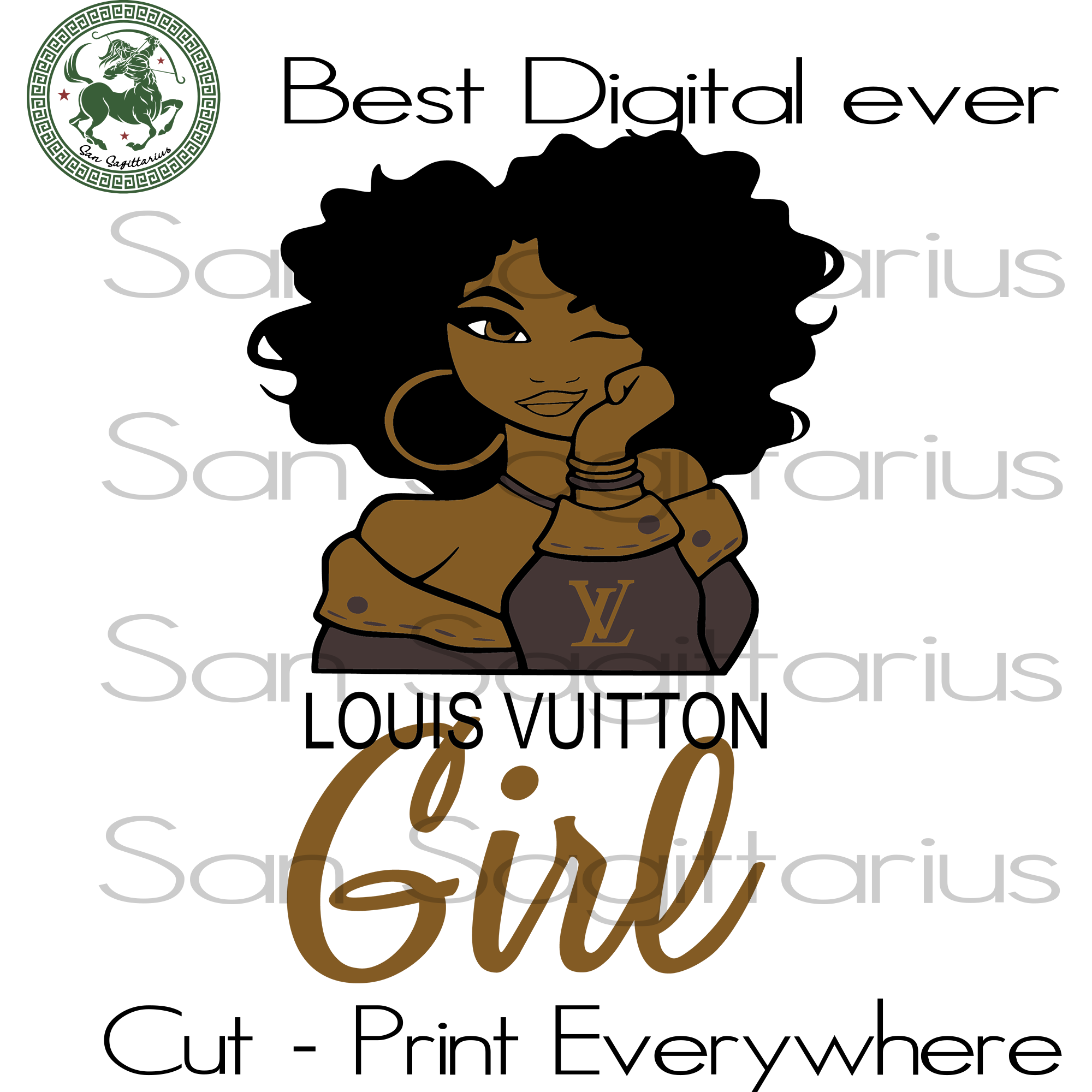 Louis Vuition Girl Louis Vuition Logo Melanin Black Girl Afro Queen San Sagittarius