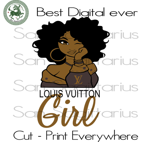 Louis Vuition Girl, Louis Vuition Logo, Melanin Black Girl Afro Queen,Louis Vuition, Louis Vuition Logo, LV Logo Branch Sublimation files, Svg Files For Cricut, HTV, Silhouette, Cameo Instant