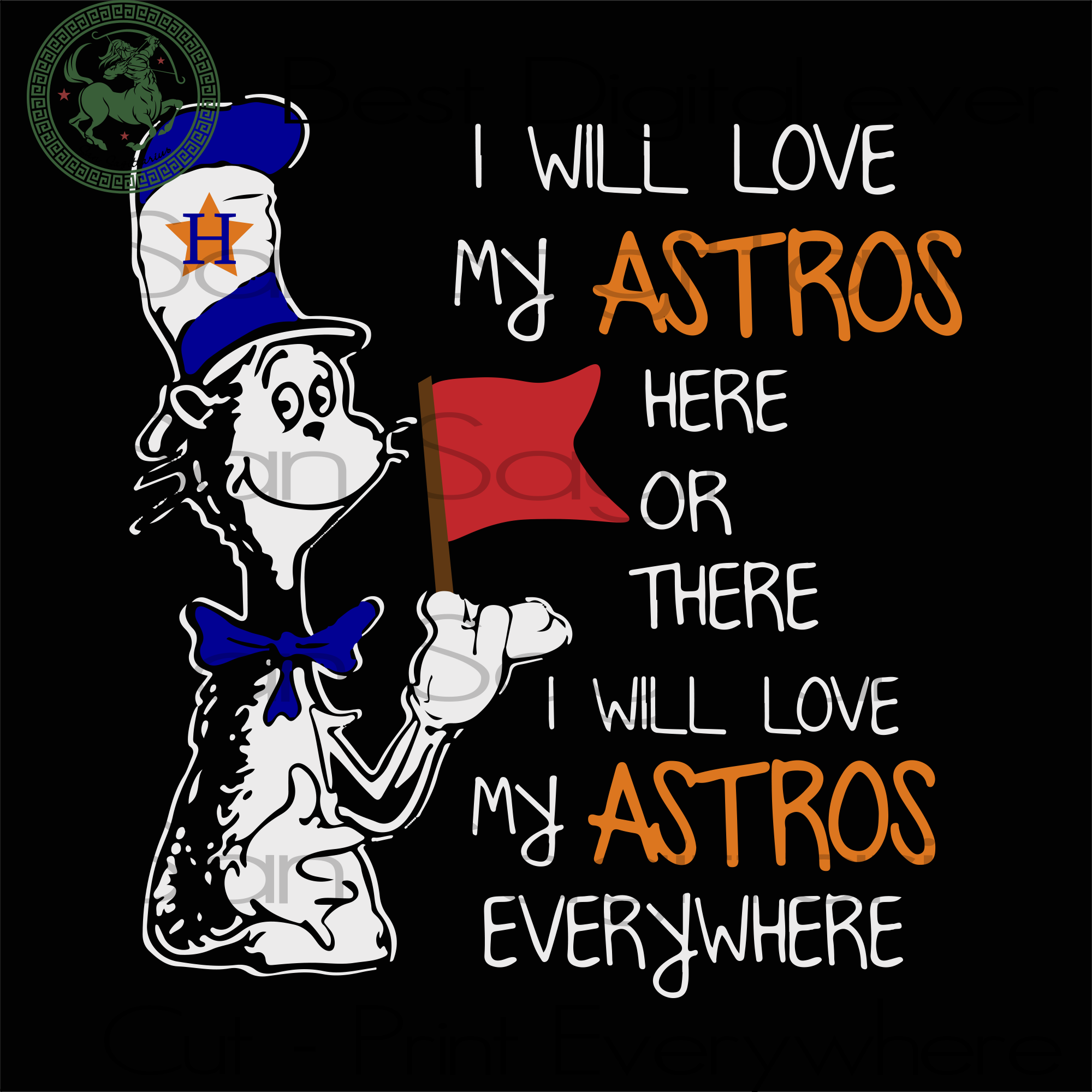 Houston Astros MLB Baseball, Houston Astros Svg, Dr Seuss svg, Dr Seuss Sublimation files, Svg Files For Cricut, HTV, Silhouette, Cameo Instant Download | San Sagittarius