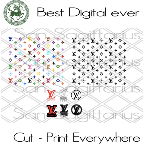 Louis Vuitton Pattern LV Logo Branch, Louis Vuitton  Logo Svg, Louis Vuitton, Louis Vuitton  SVG Files For Cricut Silhouette Instant Download | San Sagittarius