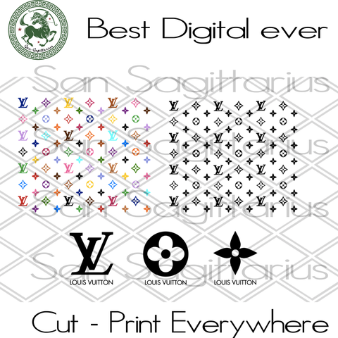 Louis Vuitton Pattern Svg, Louis Vuitton, Louis Vuitton Gift, Lv Bundle, Brand Logo Svg, Louis Vuitton Svg, Louis Vuitton Lover Gift SVG Files For Cricut Silhouette Instant Download | San Sagittarius