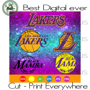 Los Angeles Lakers Kobe Bryant svg, Kobe Bryant svg Black Mamba memorial design, LA lakers logo, los angeles lakers, Kobe Bryant svg, lakers svg, la lakers svg, basketball svg, rip Kobe Bryan