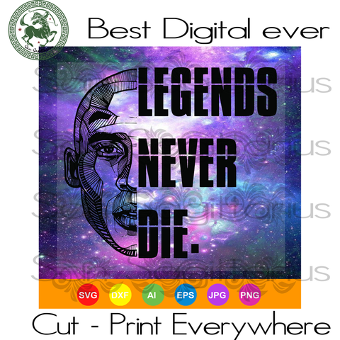 Legends Never Die, Kobe Bryant svg, Kobe Bryant clip art, Los Angeles Lakers, Kobe Bryant svg, kobe svg, black mamba SVG Files For Cricut Silhouette Instant Download | San Sagittarius