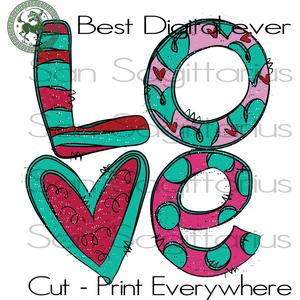 Love Valentine's Day, Valentines Day Gifts Cut File, Girlfriend Gift SVG Files For Cricut Silhouette Instant Download | San Sagittarius