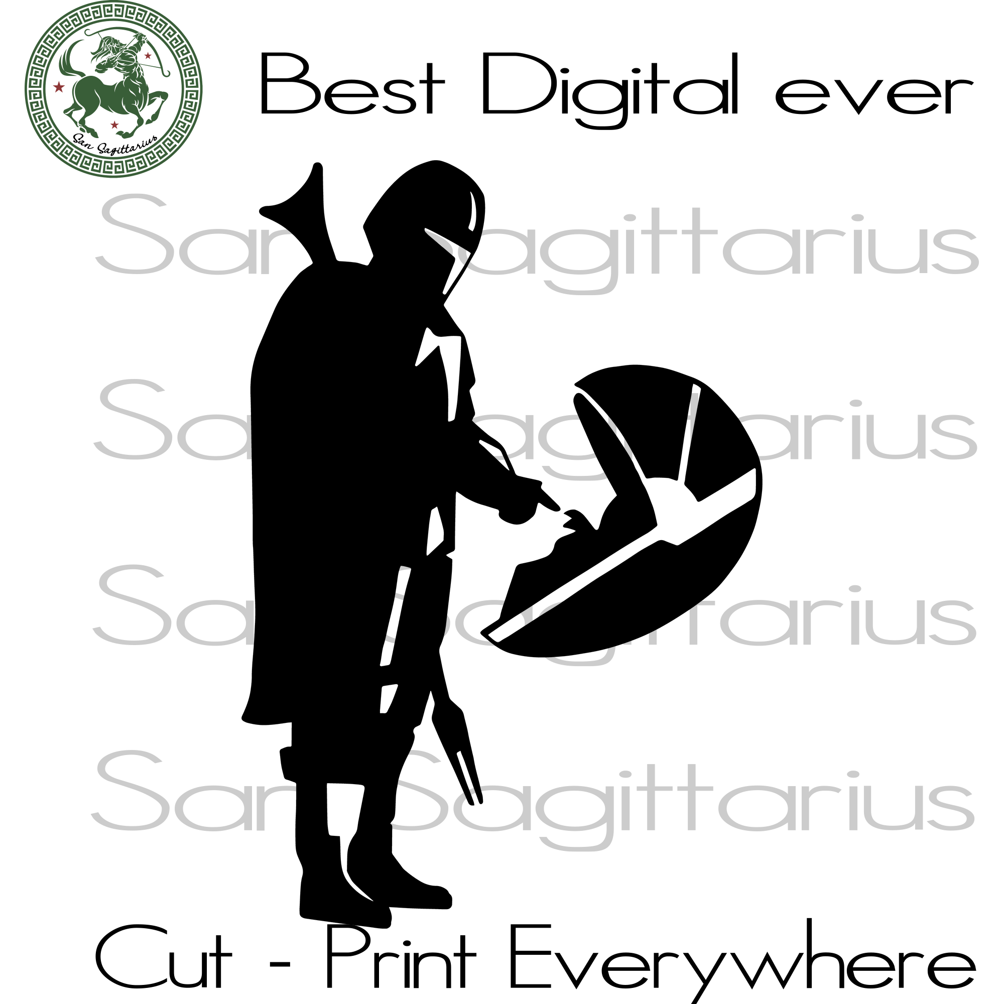 Mandalorian Baby Yoda Movie Lover SVG Files For Silhouette Cricut Files Instant Download | San Sagittarius