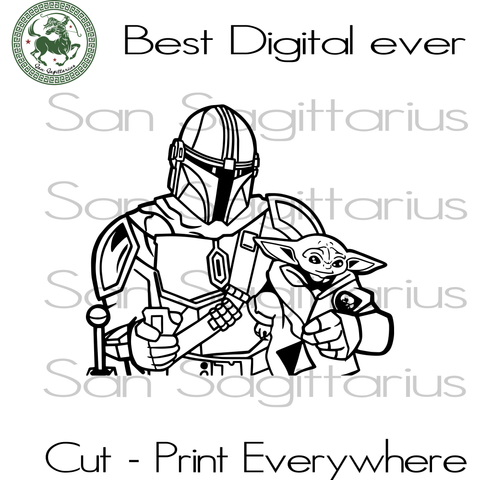 Star Wars Yoda the Mandalorian The Child Cartoon Poses SVG Files For Silhouette Cricut Files Instant Download | San Sagittarius