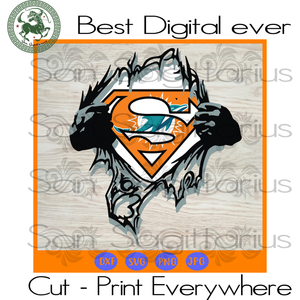 Miami Dolphins NFL Logo Superman, Miami Dolphins Logo Svg, Miami Dolphins Svg, Miami Dolphins Football, Miami Dolphins Shirt, Football Mom SVG Files For Cricut Silhouette Instant Download | S
