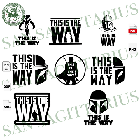 This Is The Way Bundle, Mandalorian, Mando, Star War Svg, Baby Yoda Svg,  Star Wars Cricut, Yoda Lover, Mandalorian Shirts, Mandalorian Gifts, Yoda Prints, Movie Lover Svg, Star War Movie, Wa