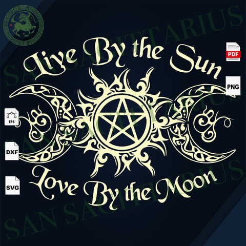 Live By The Sun Love By The Moon, Sun And Moon Svg, Sunrise Svg, Inspirational saying, Halloween Svg, Halloween quotes svg, Scary Halloween, Halloween Vector Clipart, Halloween Gift, Hallowee