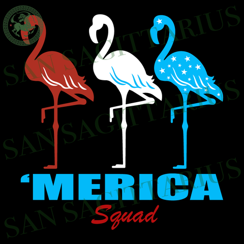 Merica squad, Flamingo svg, Independence Day Svg, Flamingo vector, Happy birthday America, America Flag vector, Happy Independence Day, 4th July Sublimation files, Svg Files For Cricut, HTV,