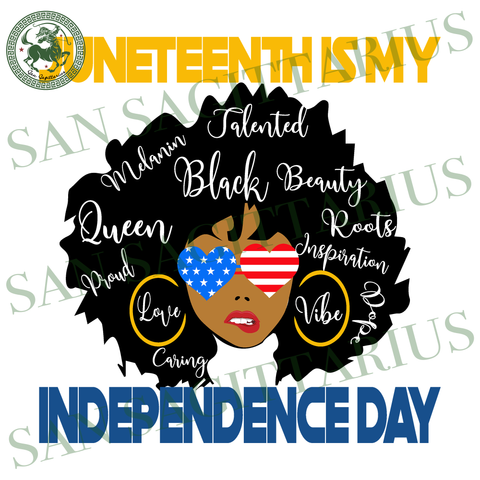 Juneteenth is my Independence Day Svg, Independence day svg, America Flag svg, July 4th vector, Happy Independence Day, Party decor, black lives matter, black history, melanin svg, afro svg,