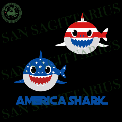 America shark svg, Independence Day Svg, 4th Of July, Patriotic Svg, Shark doo doo, Birthday dad Gift, father Birthday svg, gift for family svg, Birthday Sublimation files, Svg Files For Cric