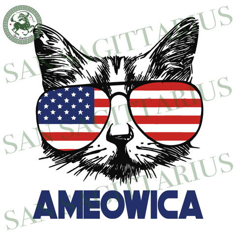 Meowica svg, Independence Day Svg, Cat vector, Cat mom svg, Happy birthday America, America Flag vector, Happy Independence Day, 4th July Sublimation files, Svg Files For Cricut, HTV, Silhoue