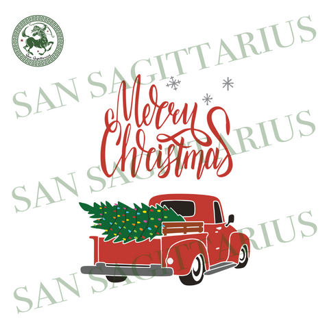 Merry Light Christmas, Christmas Svg, Truck Svg, Christmas Truck Svg, Red Truck Svg, Christmas Tree Svg, Truck Vector, Truck Clipart, Christmas Gifts, Merry Christmas, Christmas Holiday, Chri
