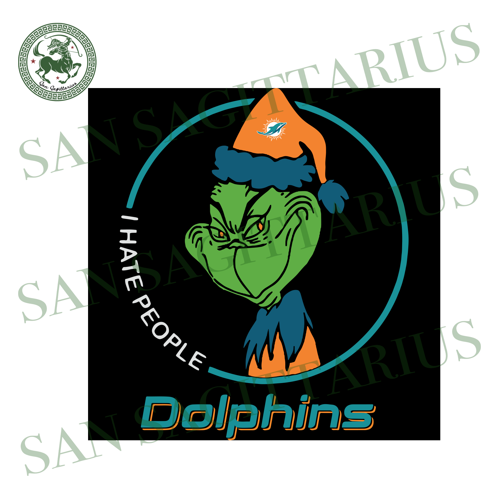 Miami Dolphin Logo With Grinch, Sport Svg, NFL Football Svg, NFL Svg, NFL Sport, Miami Dolphin Svg, Miami Dolphin, Miami Dolphin Lover, Football Svg, Football Lover, Grinch Svg, Grinch Sport