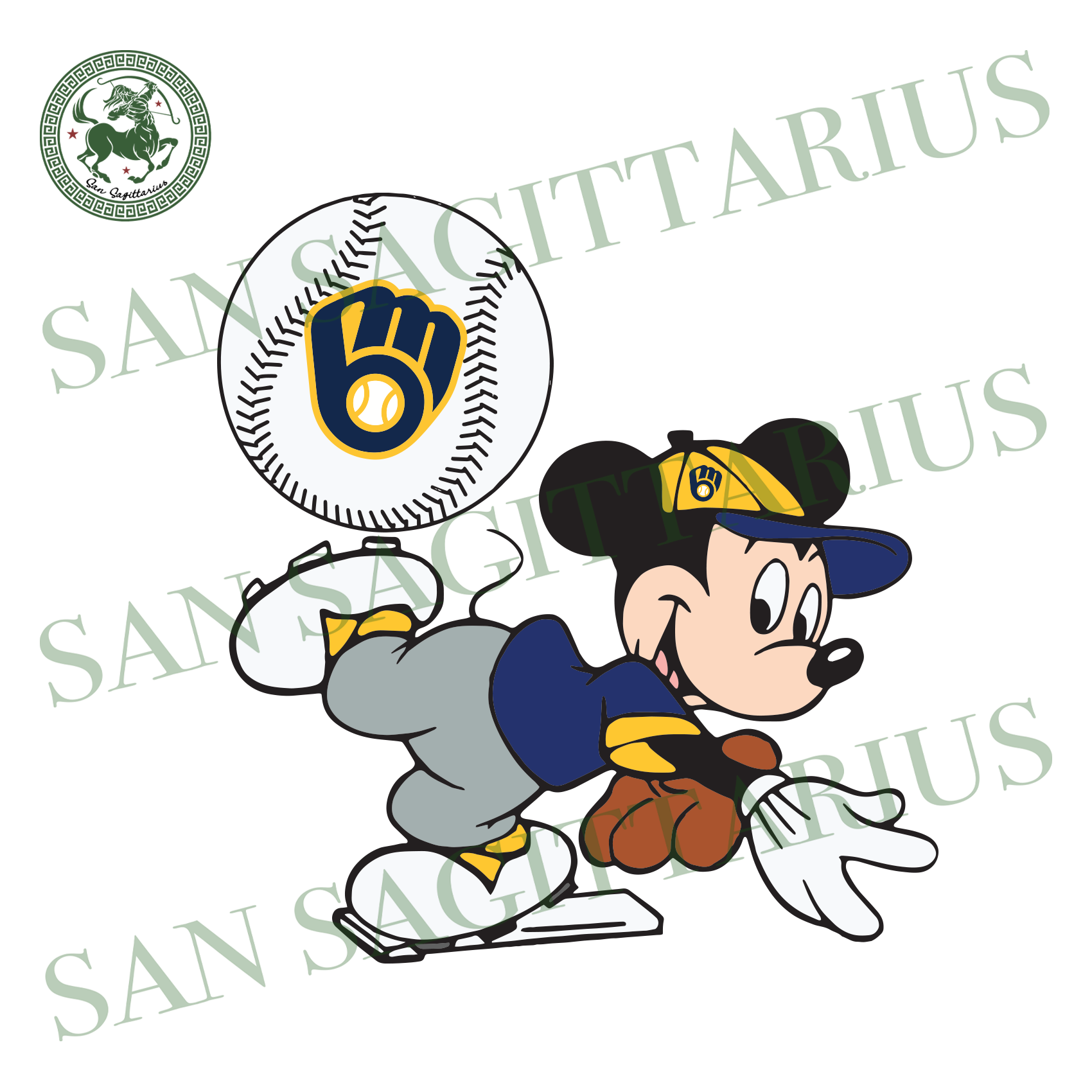 Milwaukee Brewers And Mickey, Sport Svg, MLB Baseball Svg, MLB Svg, MLB Sport, Milwaukee Brewers Svg, Milwaukee Brewers Baseball, Mickey Svg, Mickey Sport, Milwaukee Brewers Logo, Baseball Sv