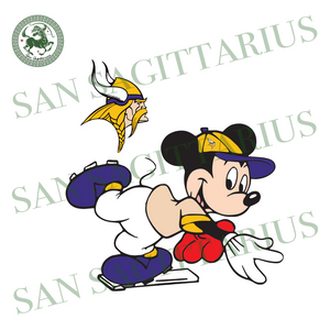 Minnesota Vikings Logo With Mickey, Sport Svg, NFL Football Svg, NFL Svg, NFL Sport, Minnesota Vikings Svg, Minnesota Vikings NFL Svg, Minnesota Vikings Lover, Vikings NFL Svg, Football Svg