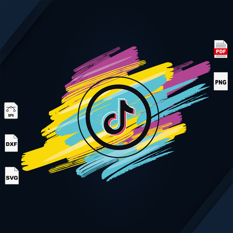 Tiktok logo svg, Tiktok svg, Tiktok art, Tiktok lover, Tiktok fan, Tiktok shirt, Tiktok vector clipart, Tiktok cut file, Tiktok design, music lover, rock n roll, pop music, trending now, tred