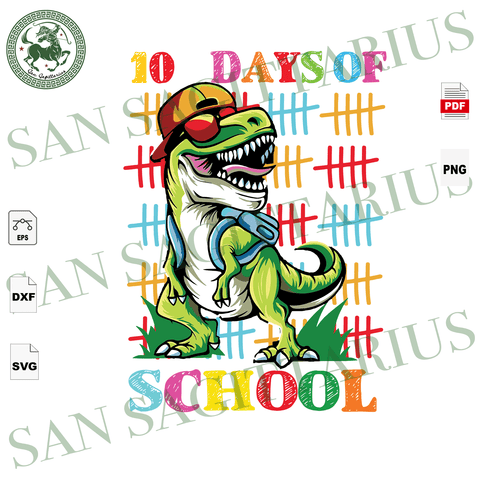 100 Days Of School, Happy 100th Day Of School,  Dinosaur Svg, Dinosaur Bag, A Dinosaur Sticker, 100 Days Of School Svg, 100th Day Of School Svg, 100th Day Of School Shirt, 100th Day Of School